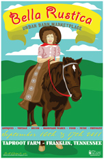 Bella Rustica Cowgirl on Pony Poster