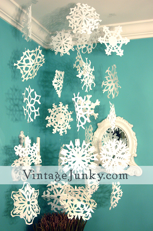 Vintage Junky Vintage Home Style Decor Shopping Blog More Delectable Snowflake Cutting Patterns